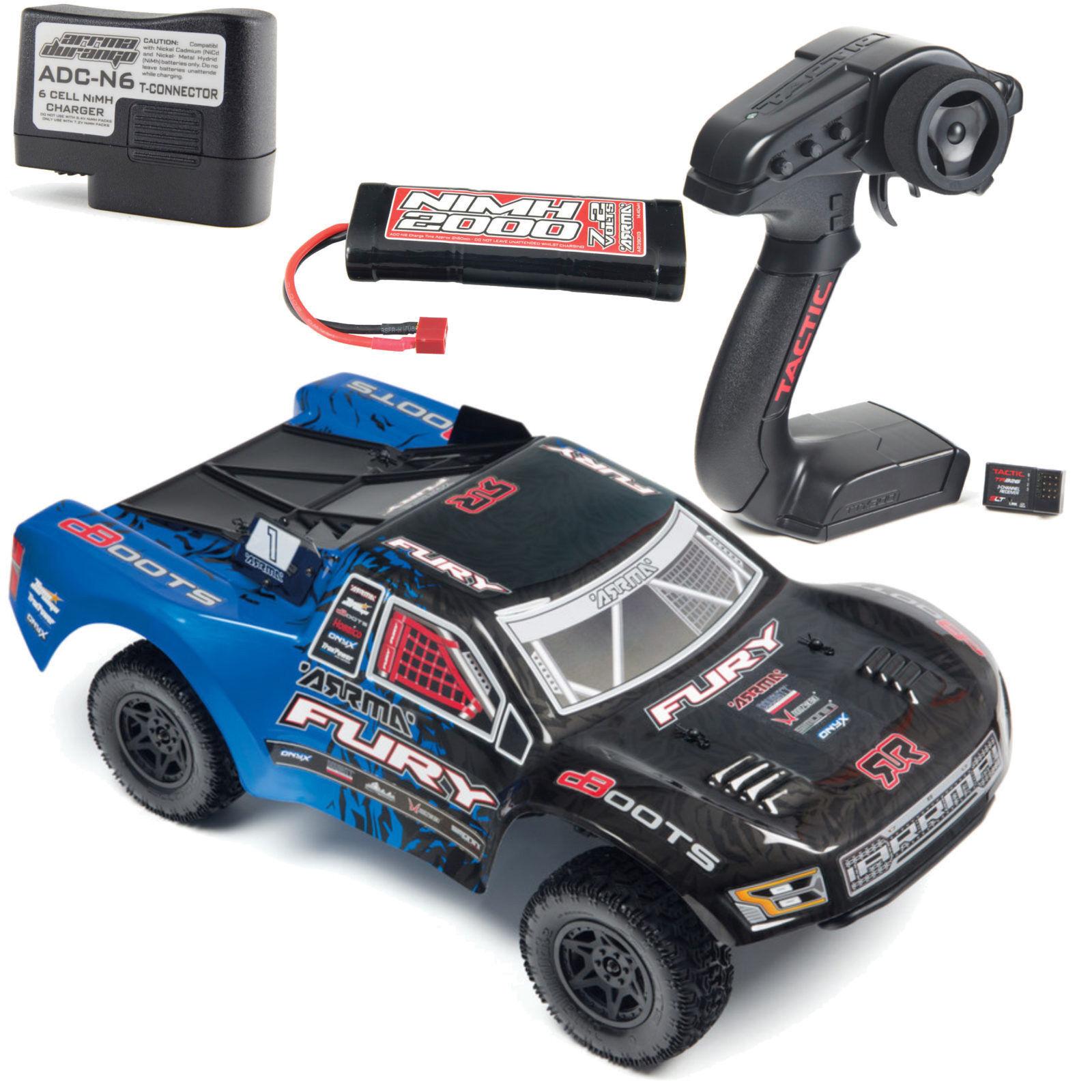 Arrma ar102651 FURY 2WD Mega 1-10 SHORT COURSE RTR BLU NERO