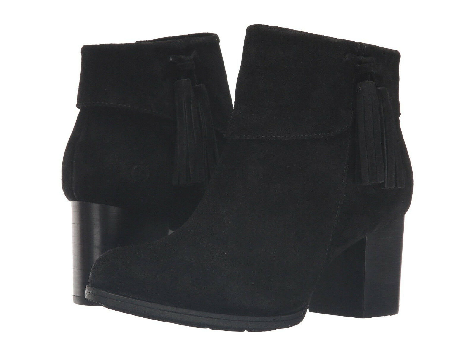 Born Womens Mauvide Pull On Side Zip  Casual Tassel Opanka Ankle Boots Booties