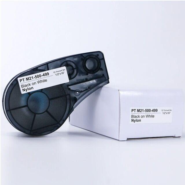 NEW Brady Compatible Label Cartridge M21-500-499 Black/White Nylon 1/2
