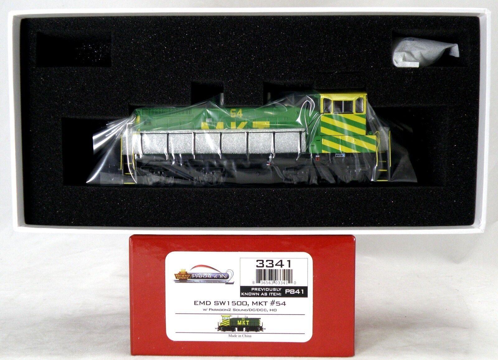 HO Scale EMD SW1500 Locomotive w DCC & Sound - M-K-T  54 - BLI  3341
