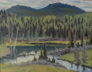 John-Davenall-Turner-ASA-1900-80-Impressionist-Landscape-Oil-Painting-Canadian