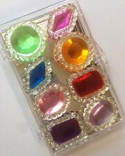 8 Edible Sugar Cake Cupcake Jewels Brooch Diamond Decoration ASSORTED COLORS