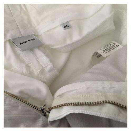 Aspesi Mod Pantaloni alla elastan donna 2 caviglia 98 cotone H106 bianca UBrgRU