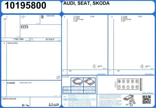 8//2006 - Cylinder Head Bolt Set Audi TT TFSI 16 V 2.0 200 BWA
