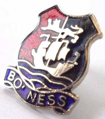 Bo/'ness Borrowstounness Town Crest Small Pin Badge