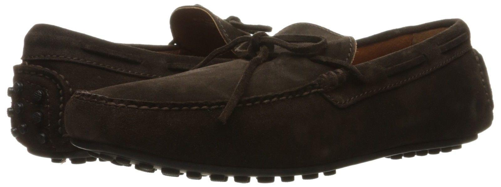 New in Box FRYE Mens Allen Tie Slip-On Loafer Chocolate Brown Suede 11 D(M) US