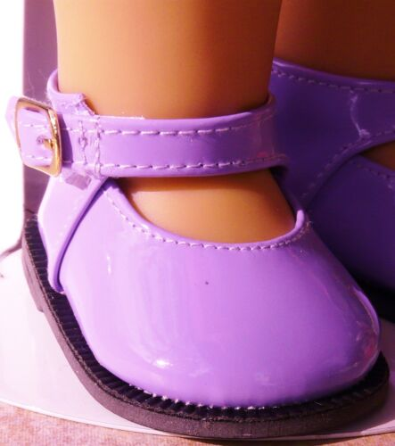 """Purple Patent Leather Mary Jane Shoes fit 18/"""" 72mm"""