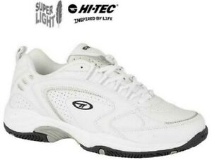 Hi-Tec-Trainers-Blast-LITE-White-Lace-Up-Sports-Gym-Mens-Size-6-16-uk