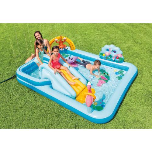 "Intex 96/"" x 78/"" x 28/"" Inflatable Jungle Adventure Play Center Spray Kiddie Pool"
