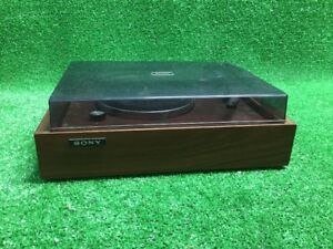 VINTAGE-SONY-PS-110-TURNTABLE-Japan-Wood-Record-Player-Vinyl-Free-Fast-Ship