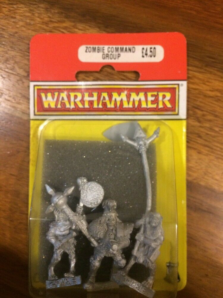 Undead Zombie Command Group New Blister Warhammer Command OOP