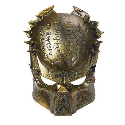 Men's Gold Predator Alien Costume Maschera Sci-fi Arnie Film Addio Al Celibato Halloween Divertente-mostra Il Titolo Originale