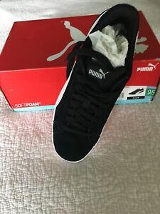 New Puma Men/'s Suede Smash Black Casual Sneaker Pick Size