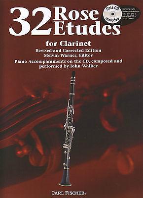 32 Rose Etudes for Clarinet bk/cd - Edit: Melvin Warner - WF85 - AMEB Gr 5 & 6