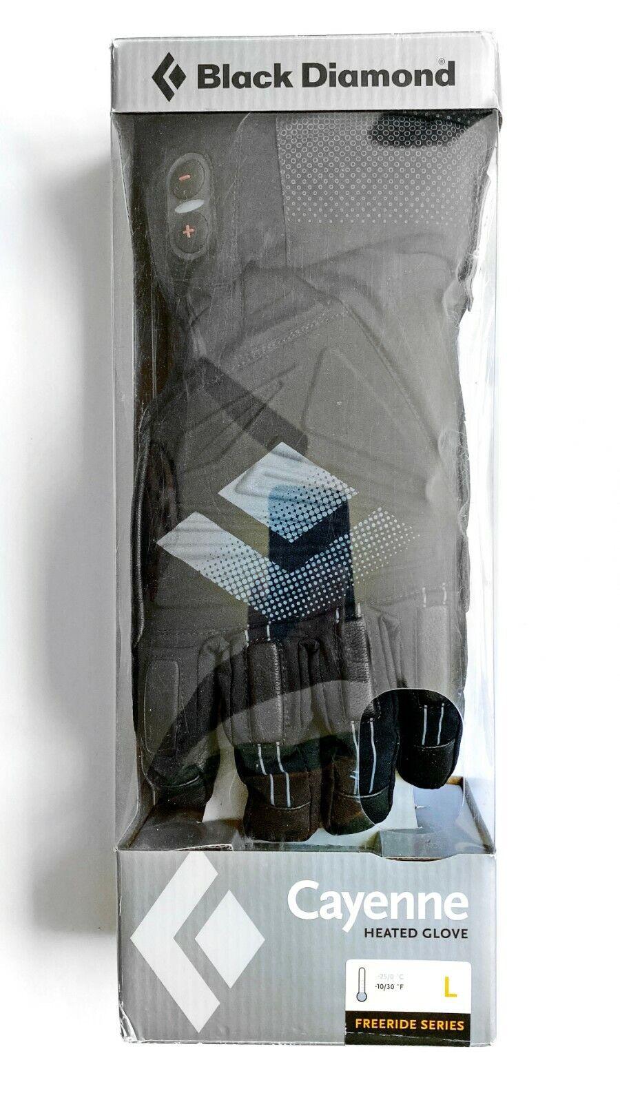 Black Diamond Cayenne Goretex HEATED Gloves Large - 3 Levels - Brand NEW in box