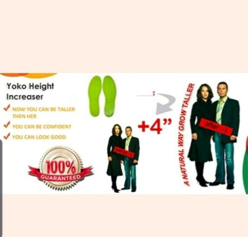 -100/% Guarantee Yoko Height Increasing Accupressure Insoles Naturap way to tall