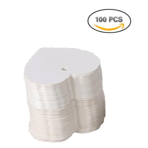 100stk COEUR KRAFT remorque Étiquettes Cadeau Pendentif papier Remorque
