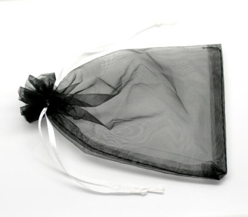 Wholesale NEW 10x15cm Black Organza Wedding Gift Bags/&Pouches X-mas Favor