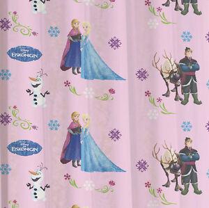 Rovitex-Disney-Die-Eiskoenigin-Kinder-Schlaufenschal-Gardine-Vorhang-rosa-weiss