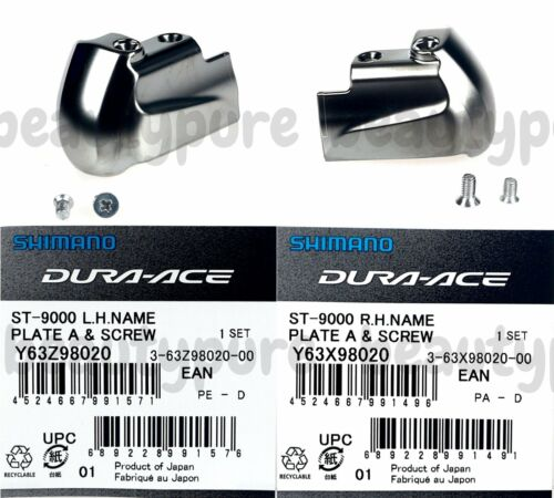 ST-9000 Shimano Dura-Ace Left//Right Pair Name Plate /& Fixing Screw NIB