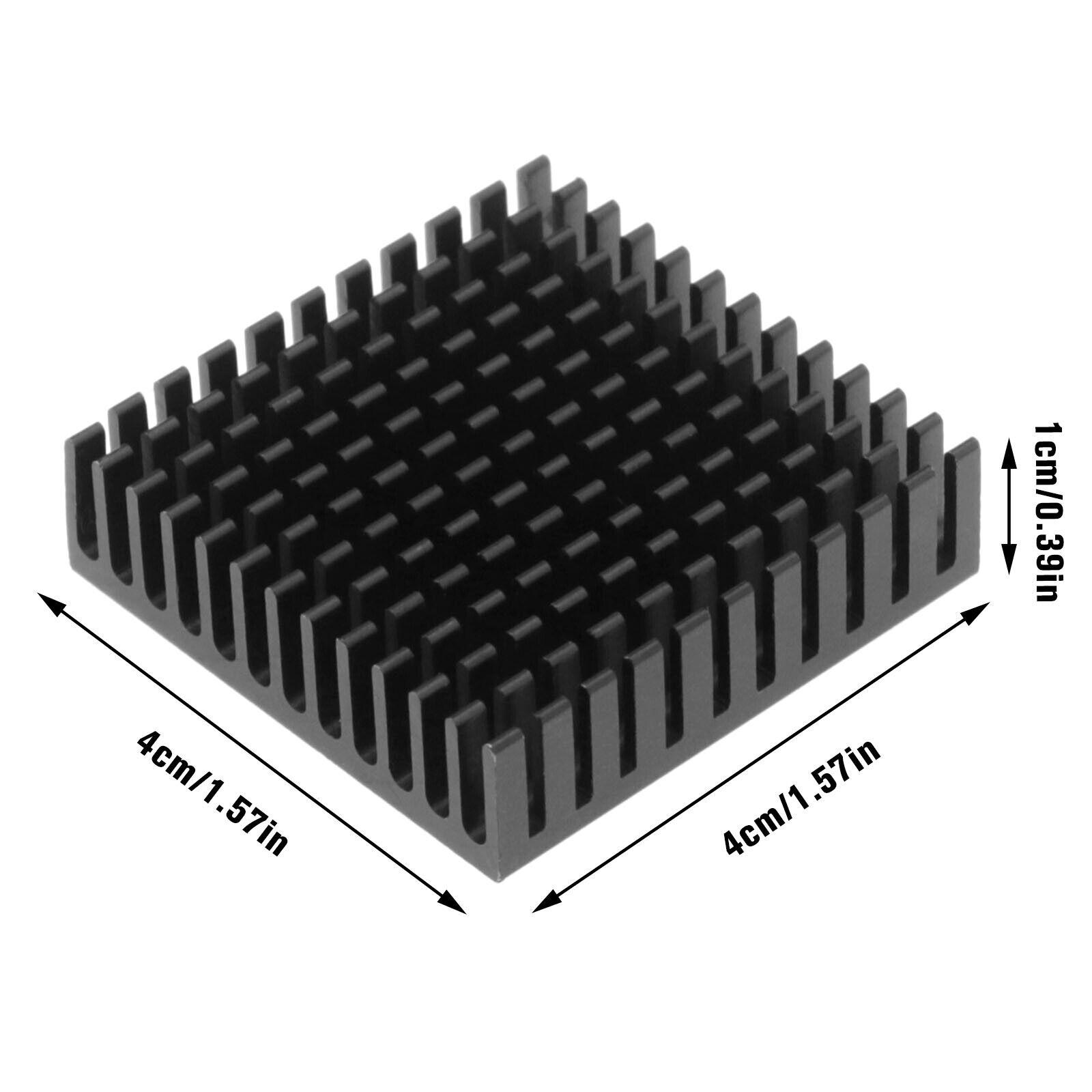 3Pcs Stepper Motor Heatsink for 3D Printer GPU IC Chip MOS 40x40x10mm