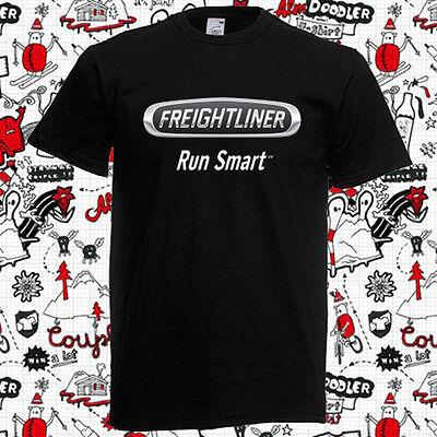 New Freightliner Trucker Trucks Logo Men/'s Black T-Shirt Size S to 3XL
