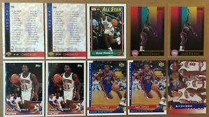 Isiah Thomas LOT of 10 NM+ cards 1990-1994 HOF Detriot Pistons NBA Skybox Topps