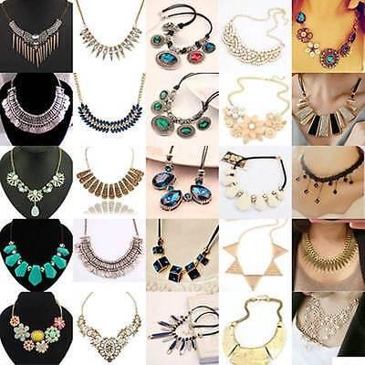 Fashion Exquisite Women Jewelry Statement Bib Chunky Collar Pendant Necklace
