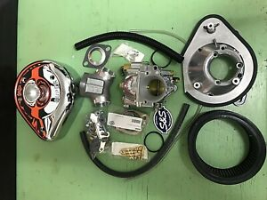 Vergaser-S-amp-S-Super-E-amp-Manifold-fuer-Harley-Sport-883-86-90-neu-MIT-TUV
