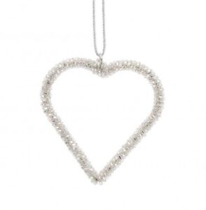 small silver hanging heart decoration wedding christmas home ebay
