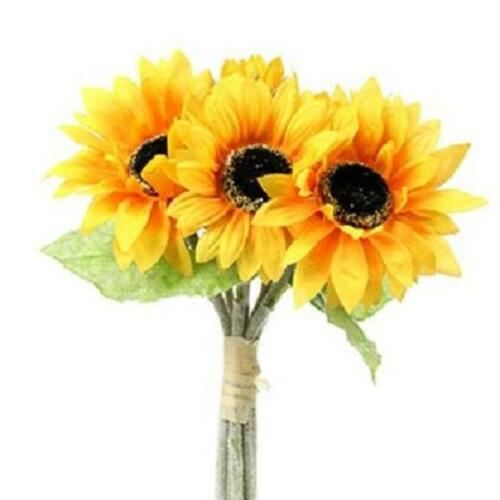7 STEMS QUALITY ARTIFICIAL SILK FLOWERS   SUNFLOWER  BUNDLE
