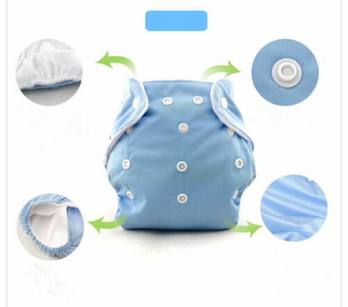 10 Pcs Adjustable Reusable Washable Baby Cloth Diaper Nappy+10 inserts Baby City