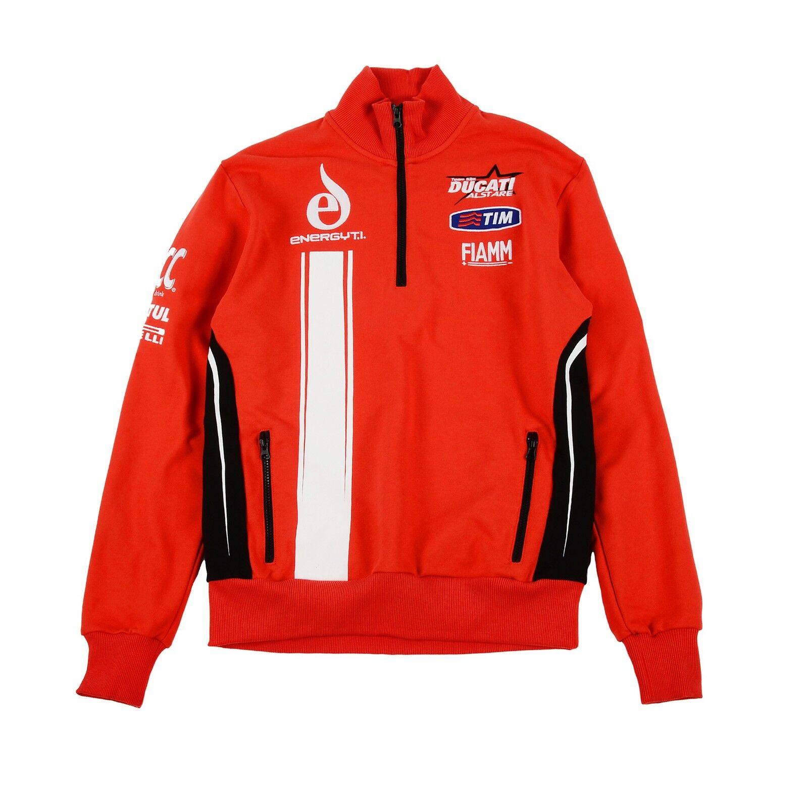 New Official Team Alstare Ducati rot Zip Up Fleece    | Online-Exportgeschäft