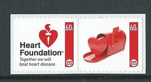 NEW ZEALAND 2012 HEART FOUNDATION SET OF 2 UNMOUNTED MINT, MNH