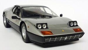 Kyosho-1-18-Scale-Ferrari-512BB-Silver-Black-Full-Openings-Diecast-model-car