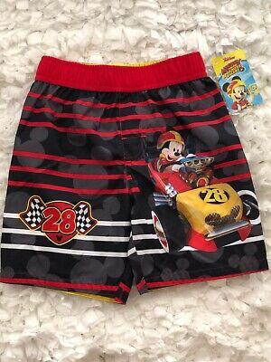 "Disney Mickey Mouse Boys Toddler Swim Shirt /""Hangin/' On/"" UPF 50 Size 3T NWT"