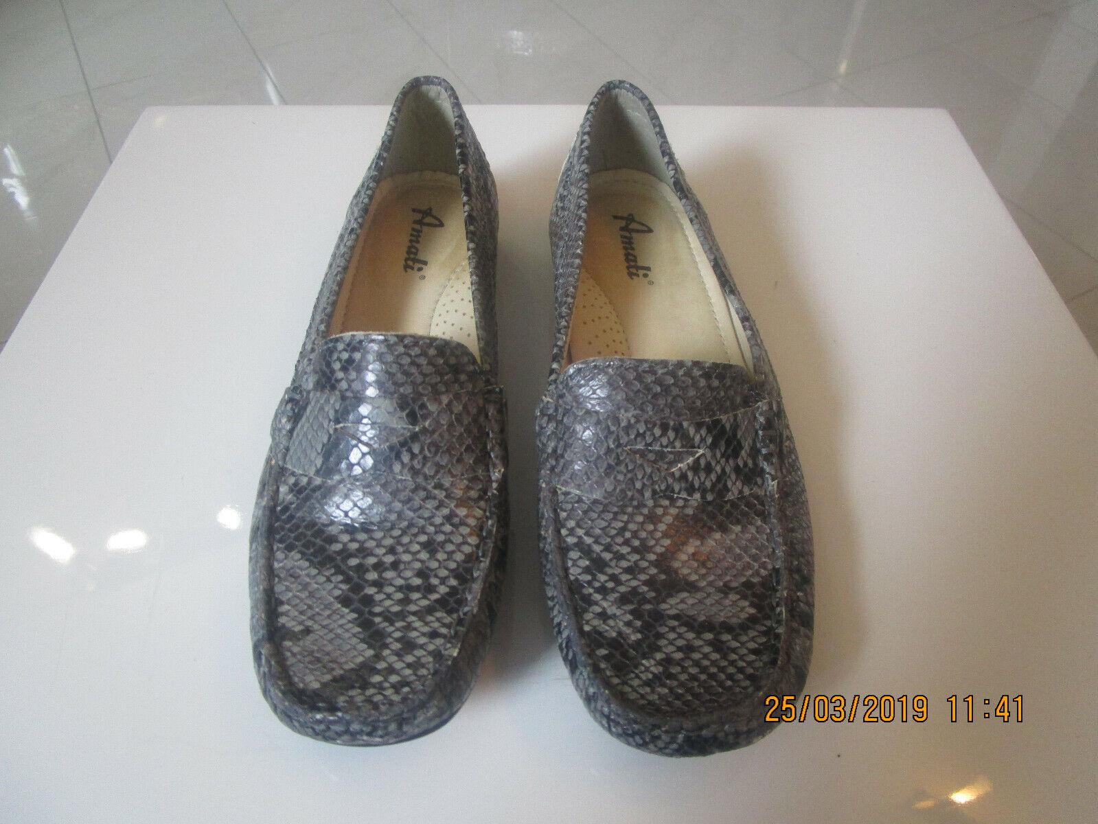 Damen Slipper von   Amati   Gr. 5 , grau ,schwarz