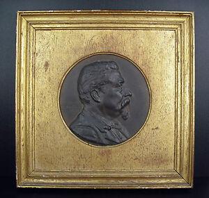 Emile Philippe Scailliet (1846-1911) Medallion 1889 Political Léon Gambetta