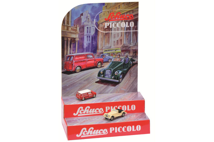 1 90 Scale Schuco Piccolo 450955100 Mini Display - Mini Van & Morgan +8 - BNIB
