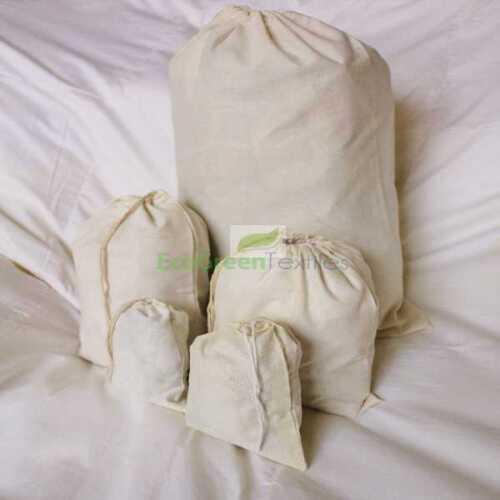 Original Cotton Muslin Drawstring Bags Bath Soap ~NICE QUALITY ~ 500 4x6