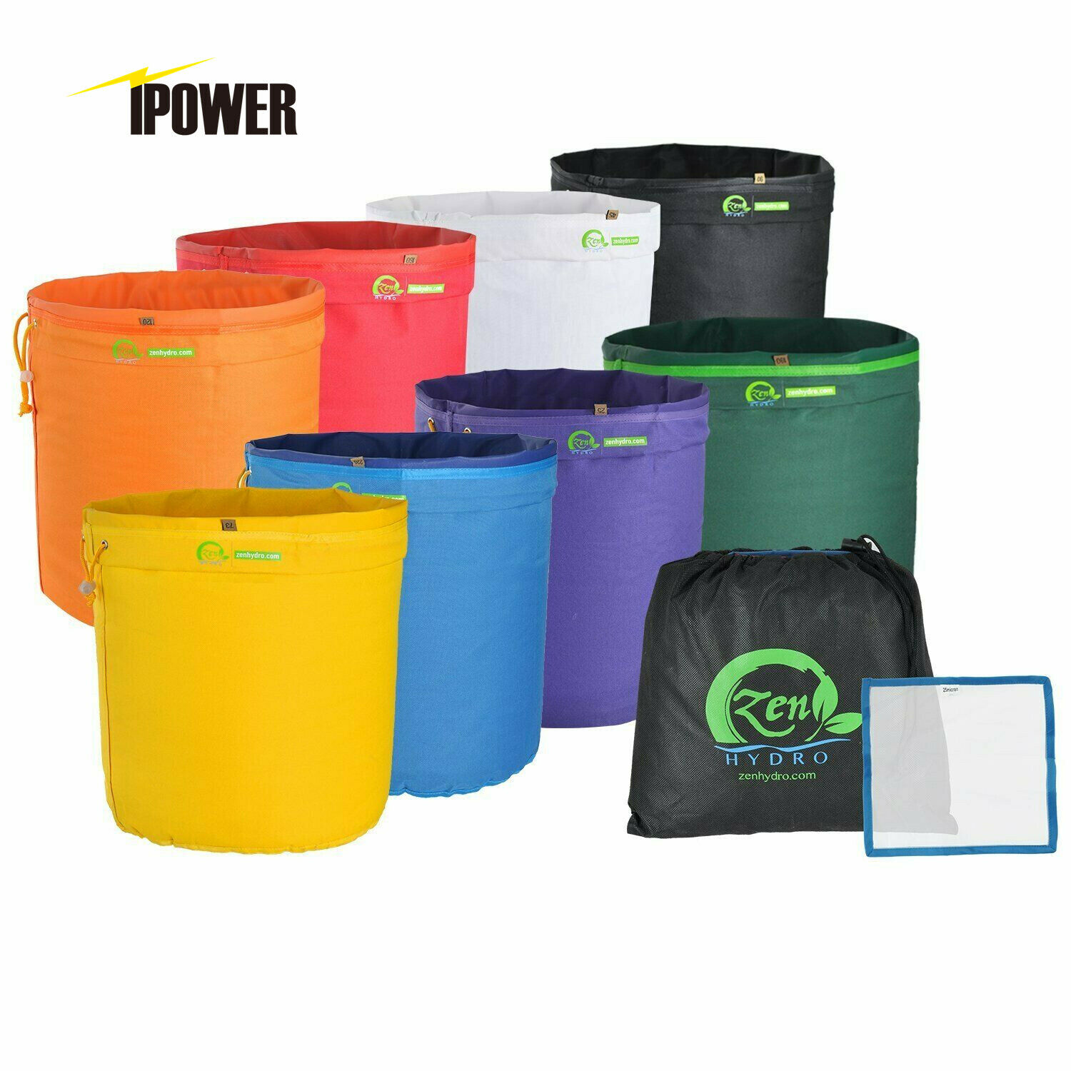 iPower 5-Gallon 5-Bag Herbal Ice Bubble Hash Bag Essense Extractor Kit Free Carr