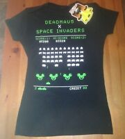 Deadmau5 Space Invaders Small T-shirt Techno House Music Rave Atari Gamers S Tee