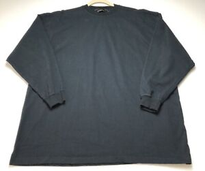 Weatherproof-Men-Basic-Black-Crew-Neck-Long-Sleeve-T-Shirt-XL-Extra-Large-Casual