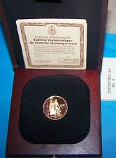 1976 Canada Olympic $100 Gold Coin Proof --22 k--1/2 oz. Gold-- Case & COA
