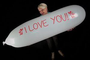 2-x-GL500-Riesen-Zeppelinballon-034-I-LOVE-YOU-034-VALENTINE-039-S-DAY-LIEBE