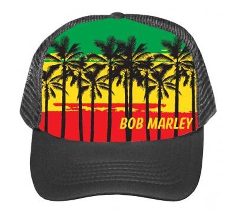 Bob Marley Palms Trucker Hat Reggae Jam Music Snapback Adjustable Unisex Cap New
