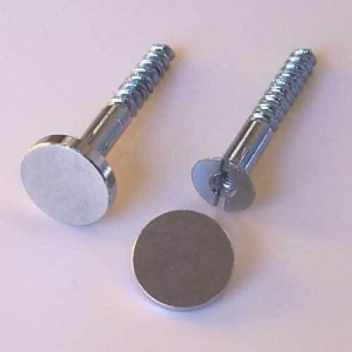 2x fixations métalliques vis et bouchons pour maison plaques