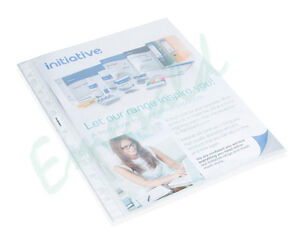 100-x-A4-Clear-Plastic-Punched-Pockets-Folders-Wallets-Same-Day-Dispatch