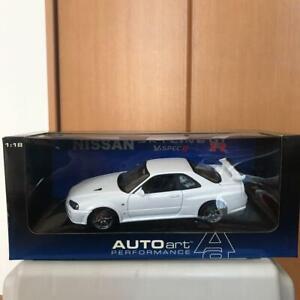 Autoart-1-18-Escala-Nissan-Skyline-R34-GTR-Color-Blanco
