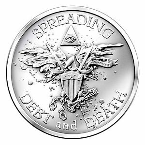 Silver Bullet Silver Shield War Bird Coin 1 Oz 999 Fine
